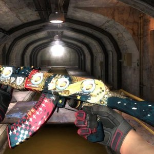 AK-47 The Empress with 4x Team Dignitas Katowice 2014 + Specialist Gloves Crimson Kimono