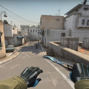 Sport Gloves Superconductor + Butterfly Knife Case Hardened blue gem #182