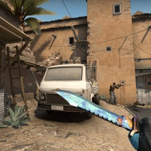 Sport Gloves Superconductor + Bowie Knife Case Hardened blue gem #182