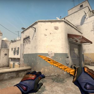 Specialist Gloves Fade (yellow tip) + M9 Bayonet Tiger Tooth