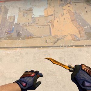 Specialist Gloves Fade (yellow tip) + Butterfly  Tiger Tooth