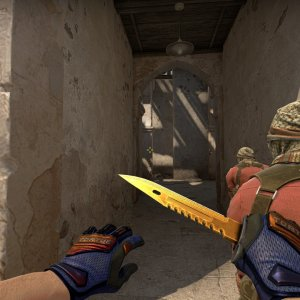 Specialist Gloves Fade (yellow tip) + M9 Bayonet  Lore