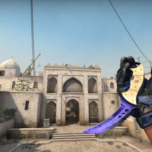 Moto Gloves Polygonx +  Talon Knife Doppler Phase 4 Max Blue