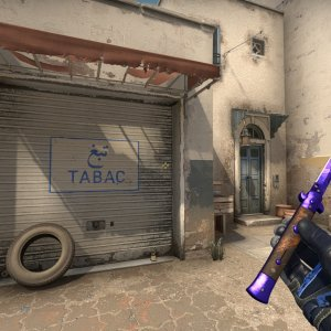 Moto Gloves Polygon+ Stiletto Knife Doppler Sapphire