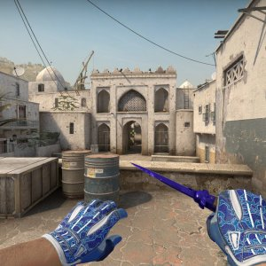Sport Gloves Amphibious+ Stiletto Knife Doppler Sapphire
