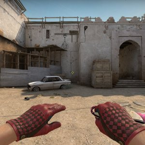 Driver Gloves Crimson Weave  + Talon Knife  Doppler Phase 2 Max Pink