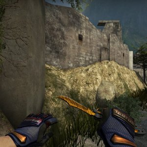 Butterfly Knife Tiger Tooth +  Gloves Fade