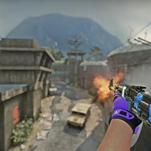 AK-47 Blue Laminate +   Pandora's Box