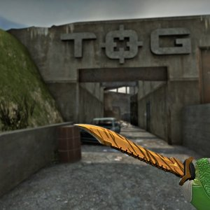 ★ Bowie Knife Tiger Tooth mw 0.079959 + Sport Gloves  Hedge Maze FN