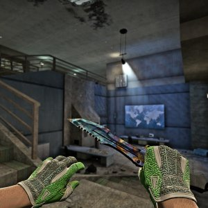 StatTrak™ Huntsman Knife | Case Hardened BS #510 + Sport Gloves  Hedge Maze FN