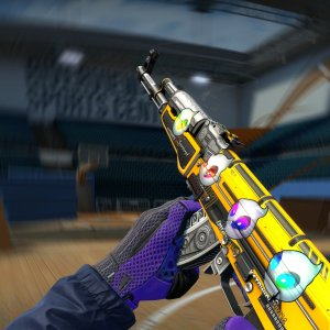 ST AK-47 Fuel Injector + 4x Team Dignitas (Holo)  Katowice 2014