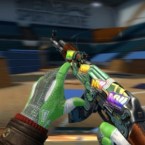 AK-47 Fire Serpent (Factory New) 4x Natus Vincere (Holo) Katowice 2014