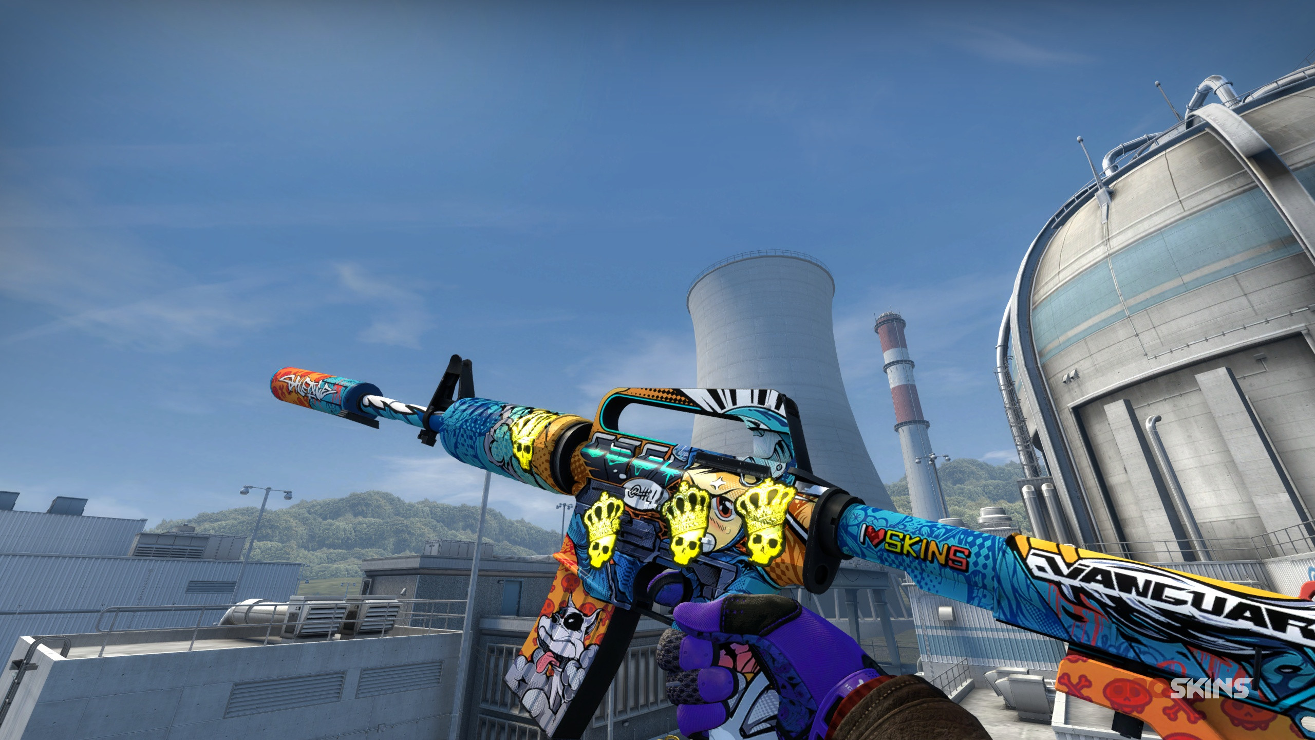 M4A1-S  Player Two 4x crown foil