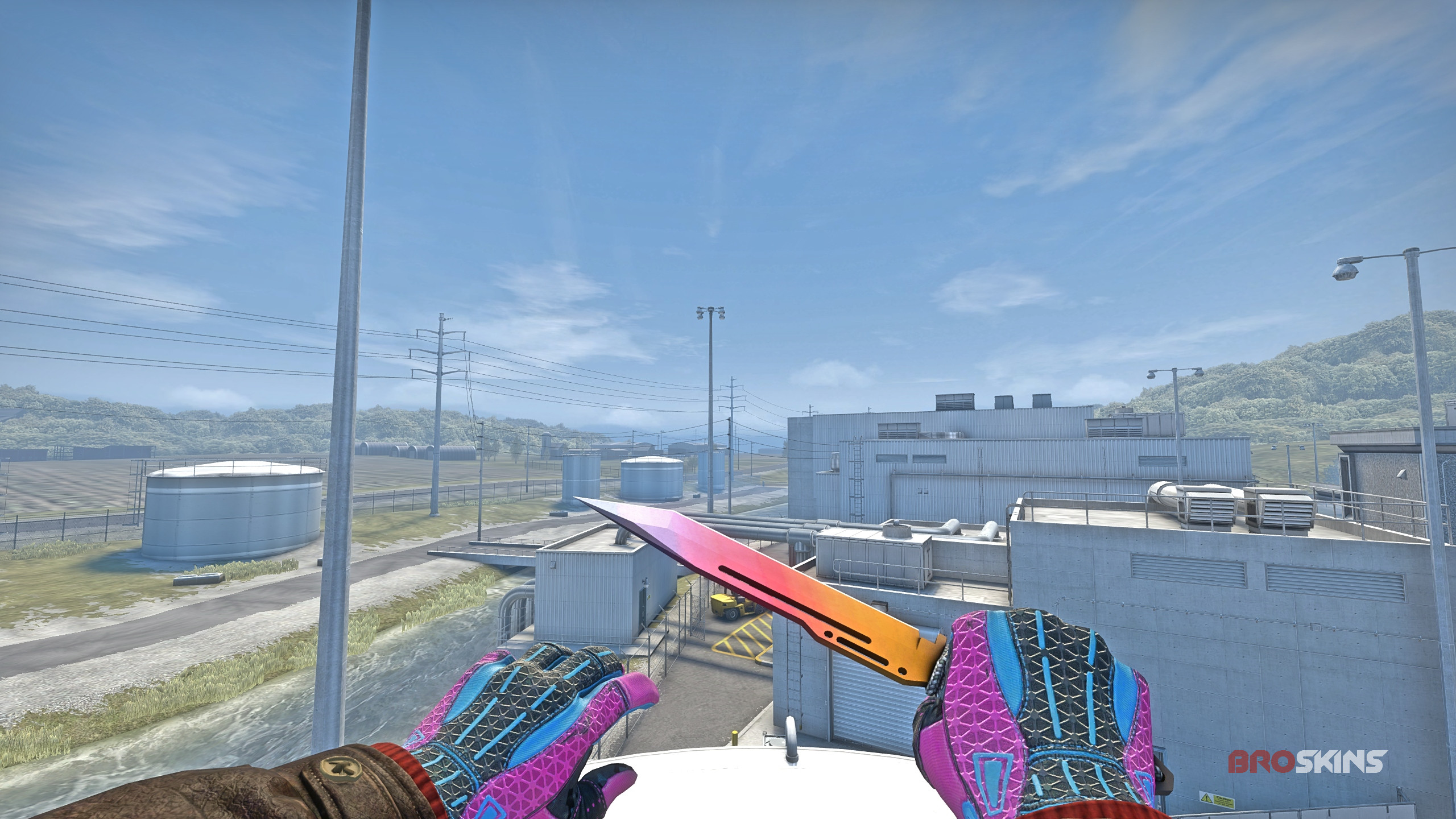 Paracord Knife Fade 0.006 98% + Sport Gloves  Vice